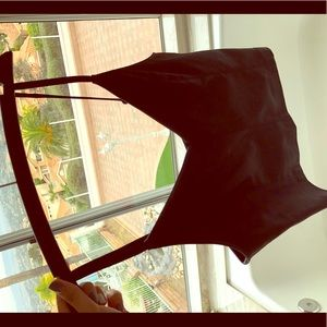 Crop Leather Top